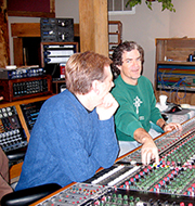 Dick with Brent King at Dark Horse Studio